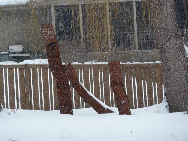 Tilt -- big steel sculpture
